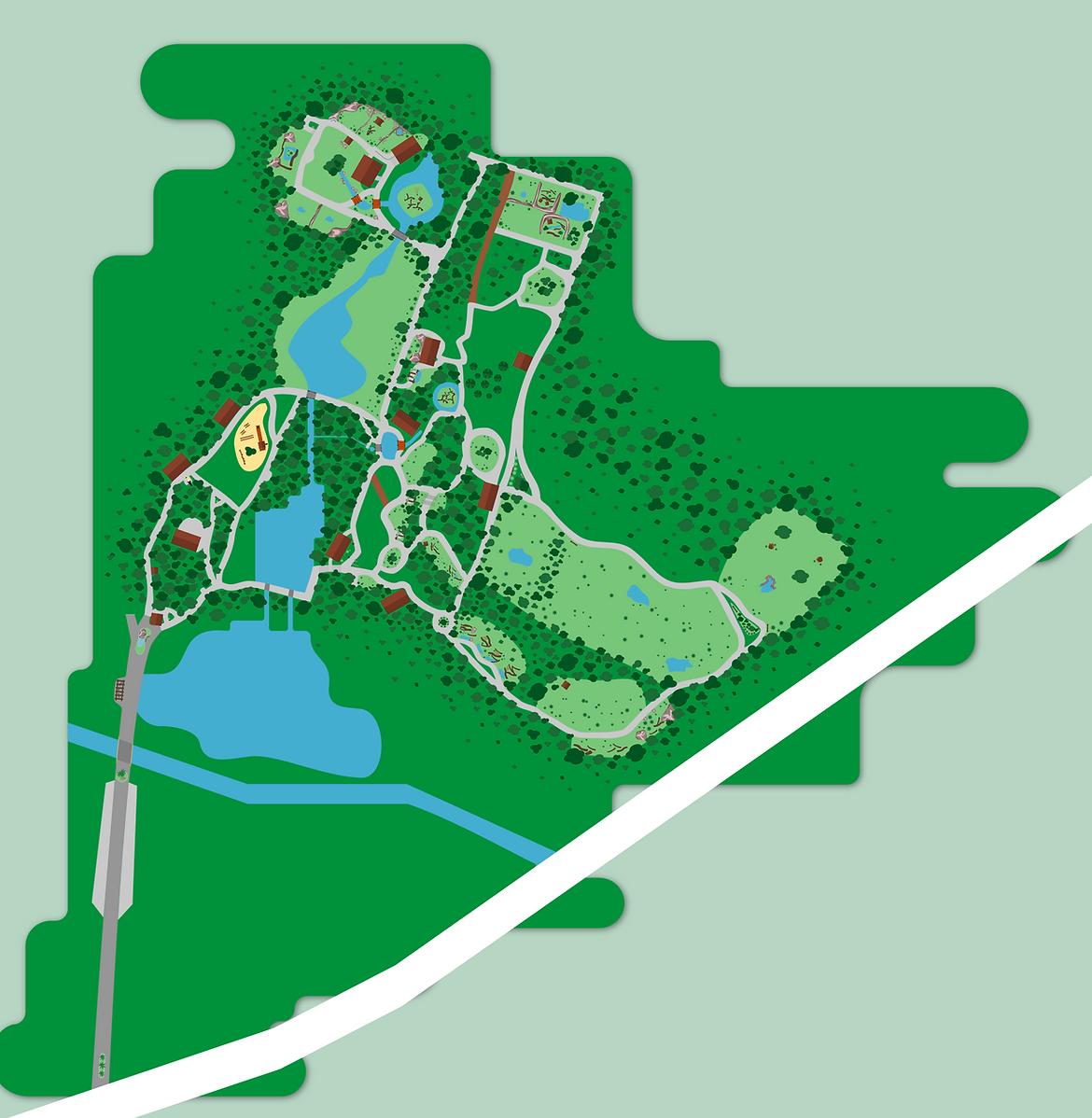 Mapa Parque Ecológico de São Carlos.