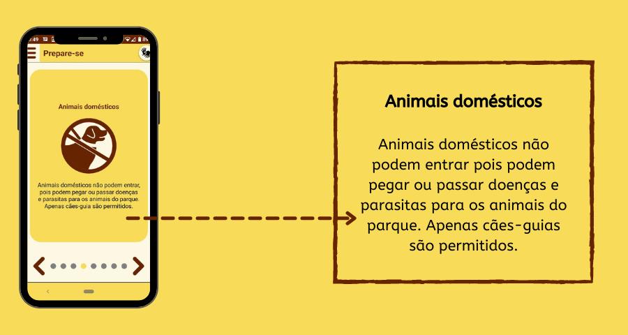 Imagem de celular e caixa de texto.