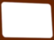 Moldura retangular marrom
