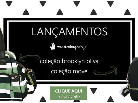 Lançamento Bolsas Masterbag Baby - Brooklyn Verde Oliva e Move