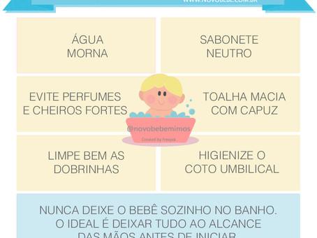 Dicas Para o Banho do Bebê