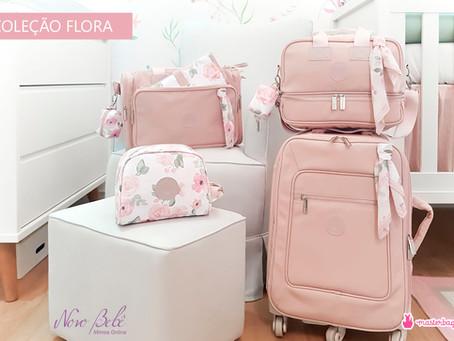 Coleção Flora - Bolsas Masterbag Baby