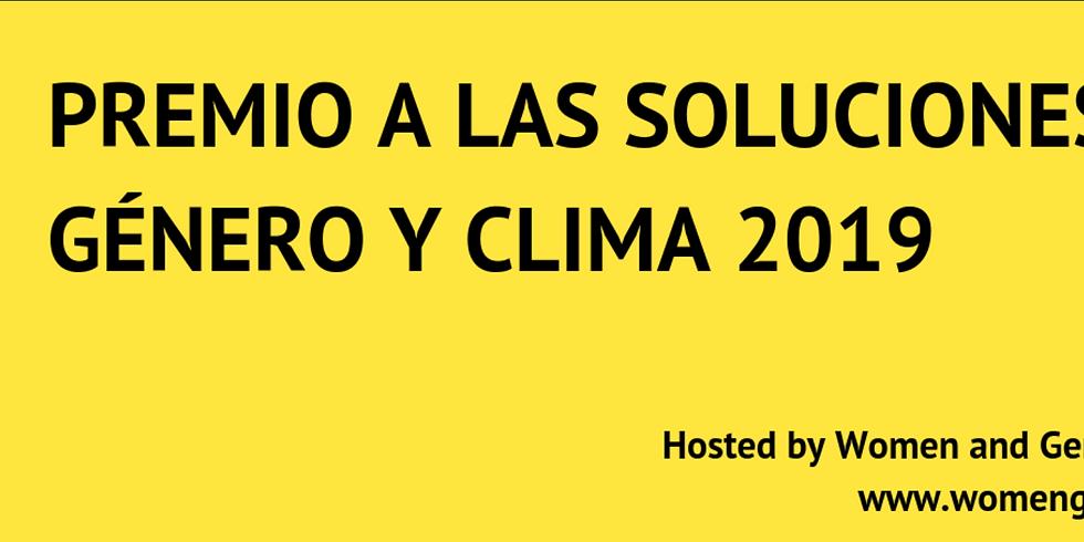 """5° premiación anual de """"Soluciones de Género y Clima"""""""