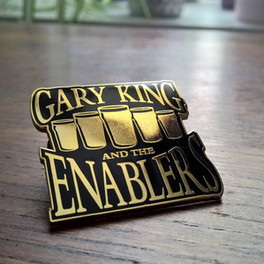 Gary King and the Enablers Gold Enamel Pin