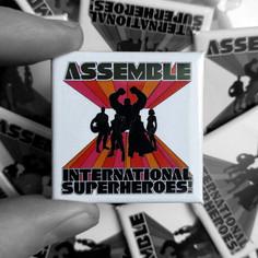 Green Day X Avengers Assemble - International Superheroes! Badge