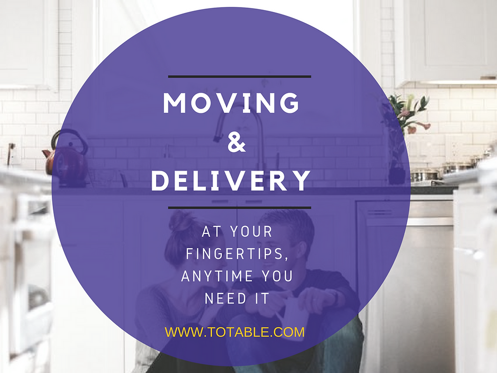 Totable: Moving & Delivery At Your Fingertips
