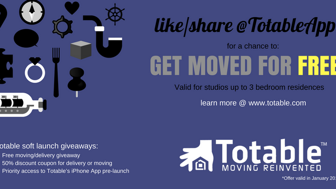 Totable Extends Soft Launch Giveaways Through January!