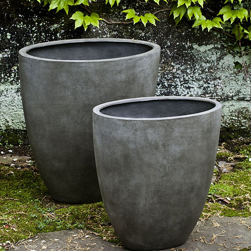 TALL OVAL LITE PLANTERS - Set of 2 - by Campania