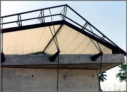 Fabric Roof Attached to Trusses