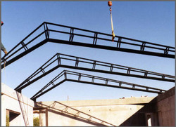 Truss Positioned on Roof
