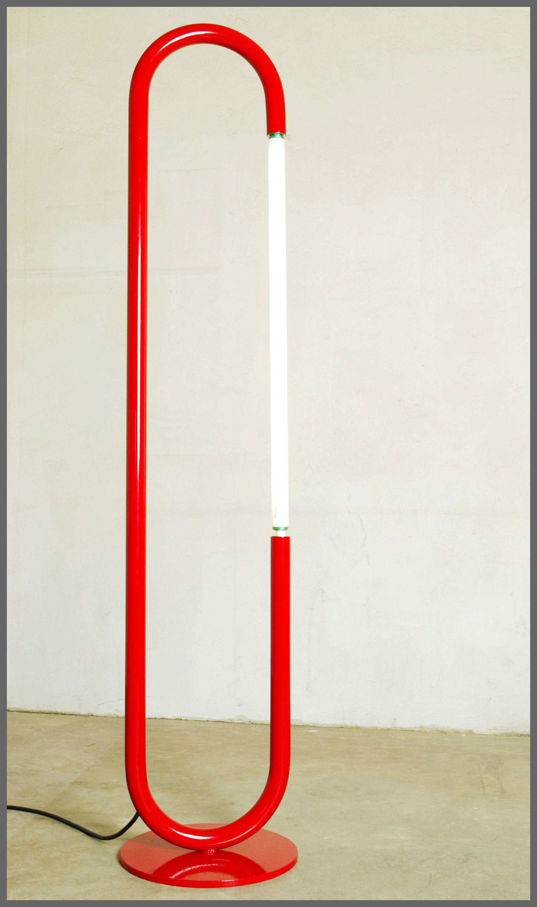 Red Florescent Floor Lamp