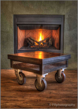 Concrete-Topped End Table