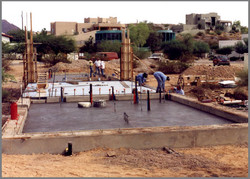 Foundation Slab is Poured