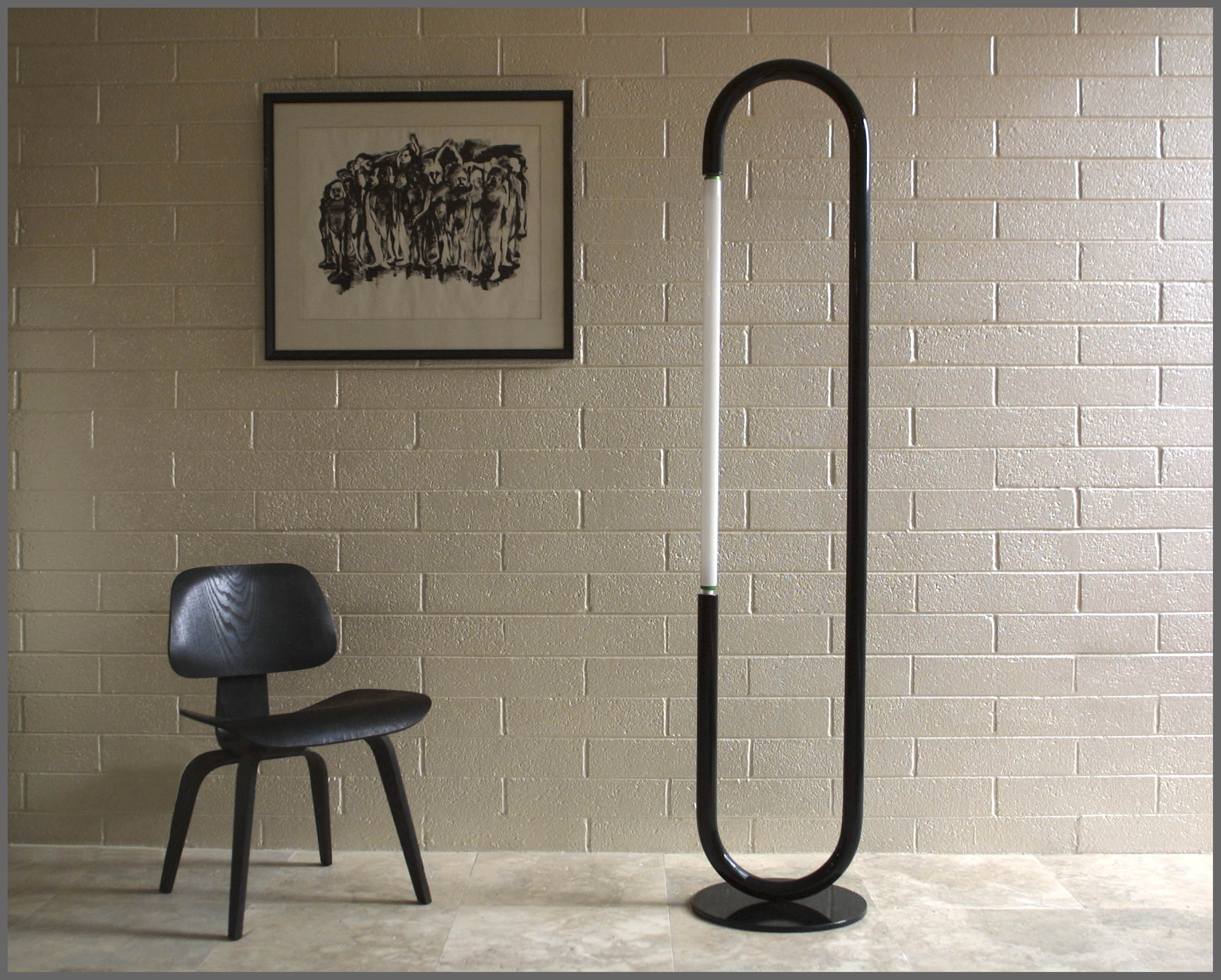 Black Florescent Floor Lamp
