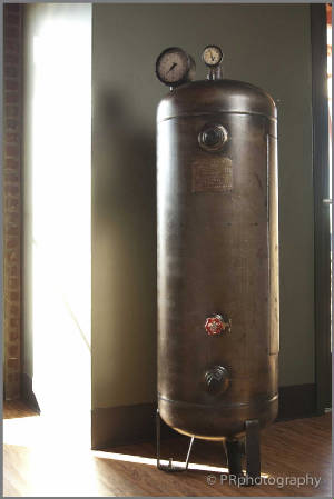 Back View of Compressed Air Tank