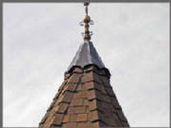 Rooftop Spire is Checked for Fit
