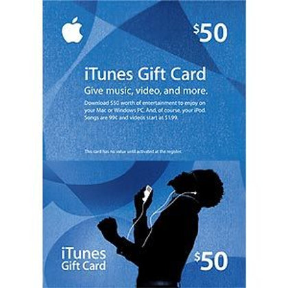 美版 iTunes Gift Card US50