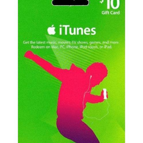 美版 iTunes Gift Card US10