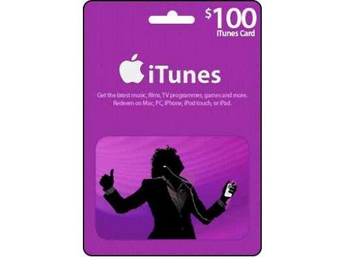 美版 iTunes Gift Card US100