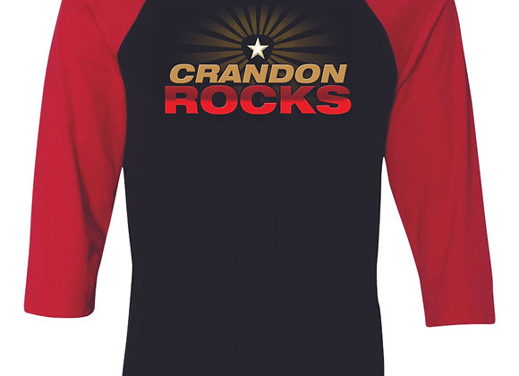 Unisex Crandon Rocks Baseball Tee