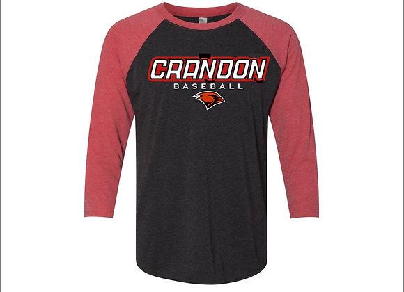 Bella & Canvas Unisex three-quarter sleeve baseball jersey