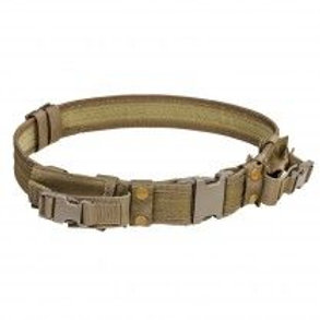 """VISM® by NcSTAR® 2"""" TATICAL BELT WITH TWO POUCHES/ TAN"""