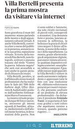 Il Tirreno - Villa Bertelli presenta la prima mostra da visitare via internet