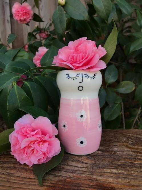 Miss pippi poppy porcelain lady vase in her pink flowered dres miss pippi poppy porcelain lady vase in her pink flowered dres mightylinksfo
