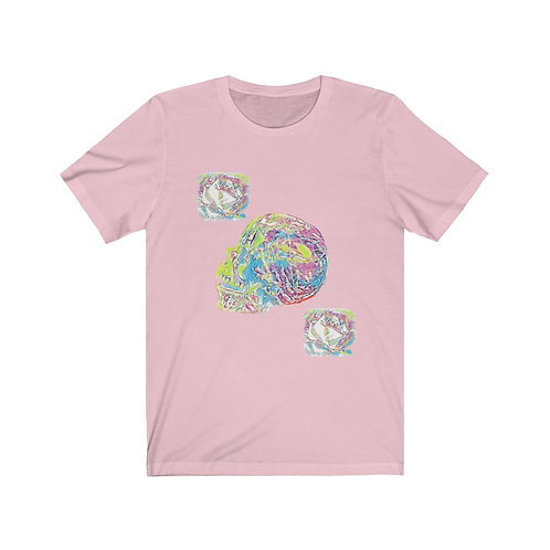 Roses Crystal Skull Cotton Tee Shirt XS-3XL Between Heaven and Hell Boutique