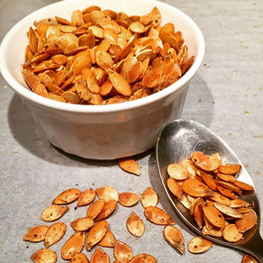 Super Easy Roasted Squash Seeds