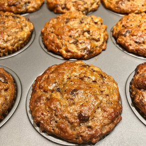 Banana Fiberful Chocolate Muffins