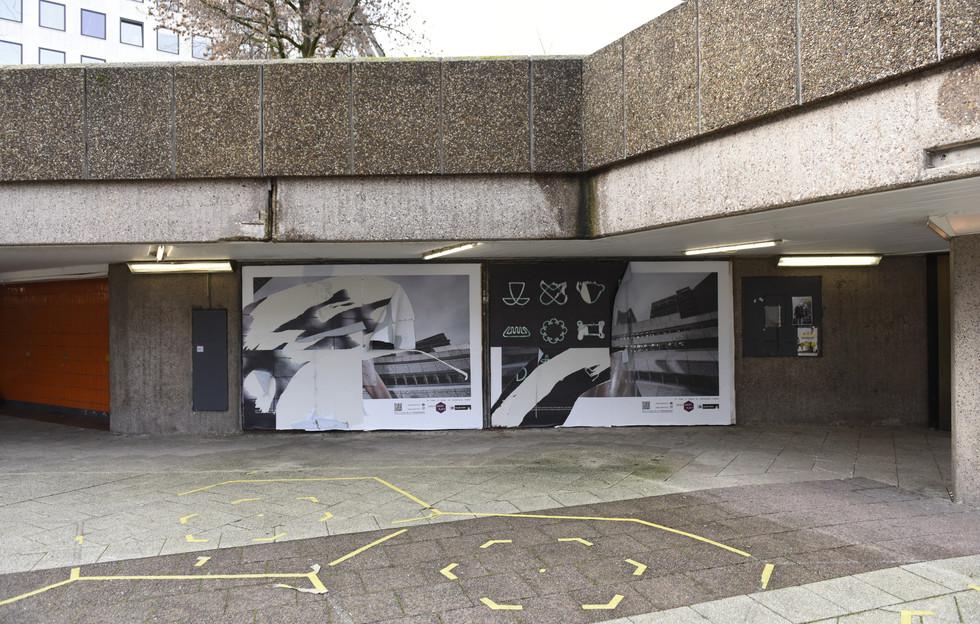 Destroyed work after public exhibition.