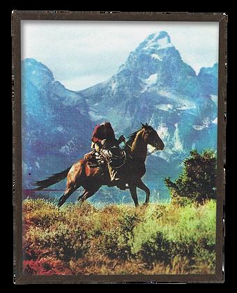 Existential Cowboy screenprint