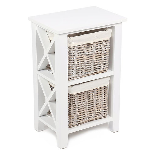 Lomond White 2 Basket Vertical Cabinet With Linings