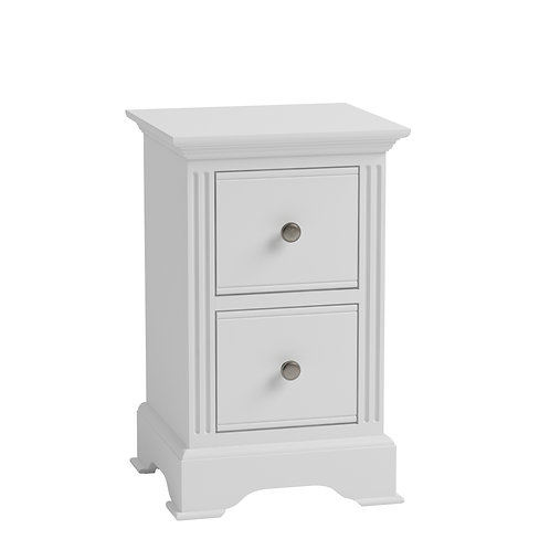Carlisle White Small Bedside Cabinet