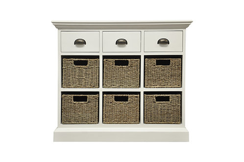 Lomond 3 Drawer 6 Basket Unit