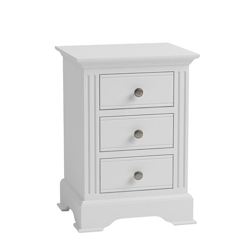 Carlisle White Large Bedside Cabinet