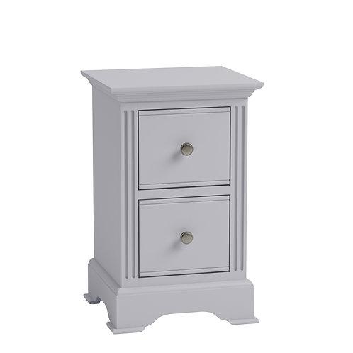 Carlisle Grey Small Bedside Cabinet