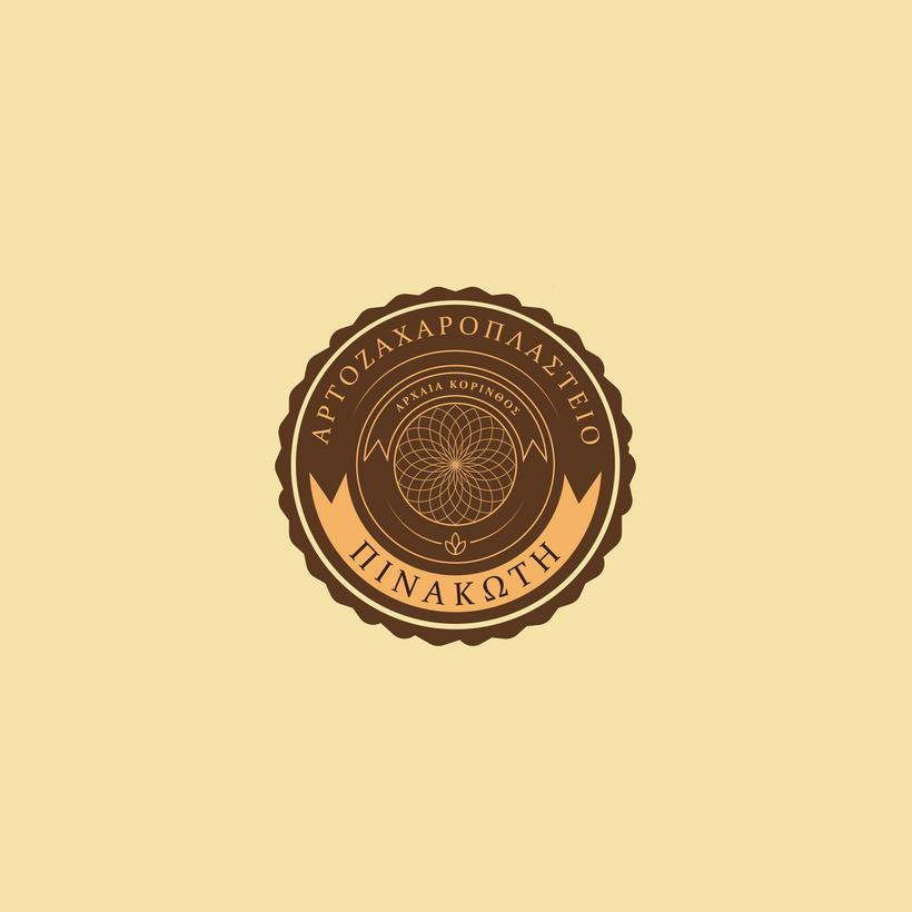 Pinakote logo design