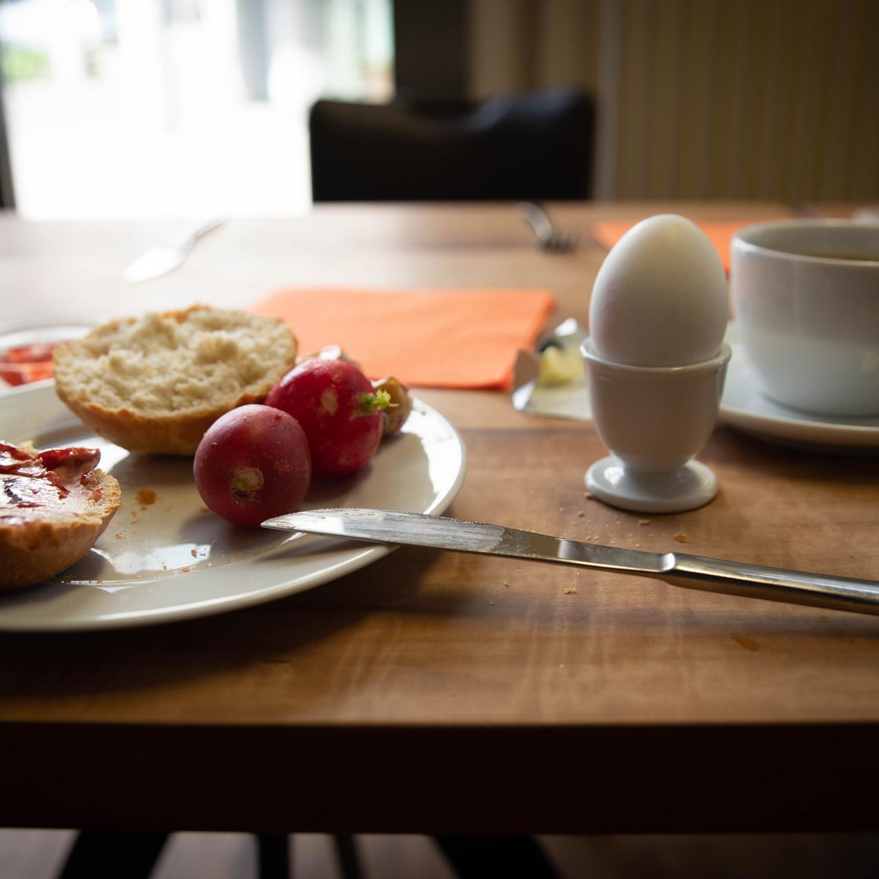 Frühstück vor der Hochzeit, lasst uns genießen