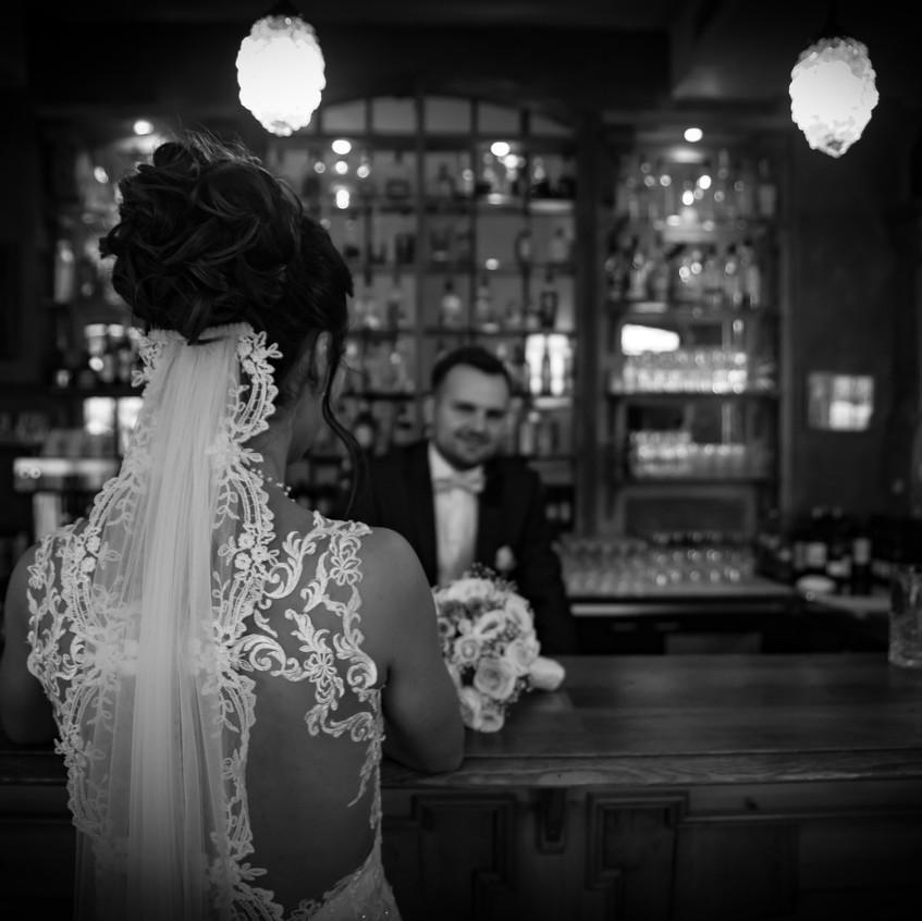 Kristina und Johannes verstehen es, sich in Szene zu setzen. Blicke sprechen manchmal Bände und mehr als 1000 Worte.