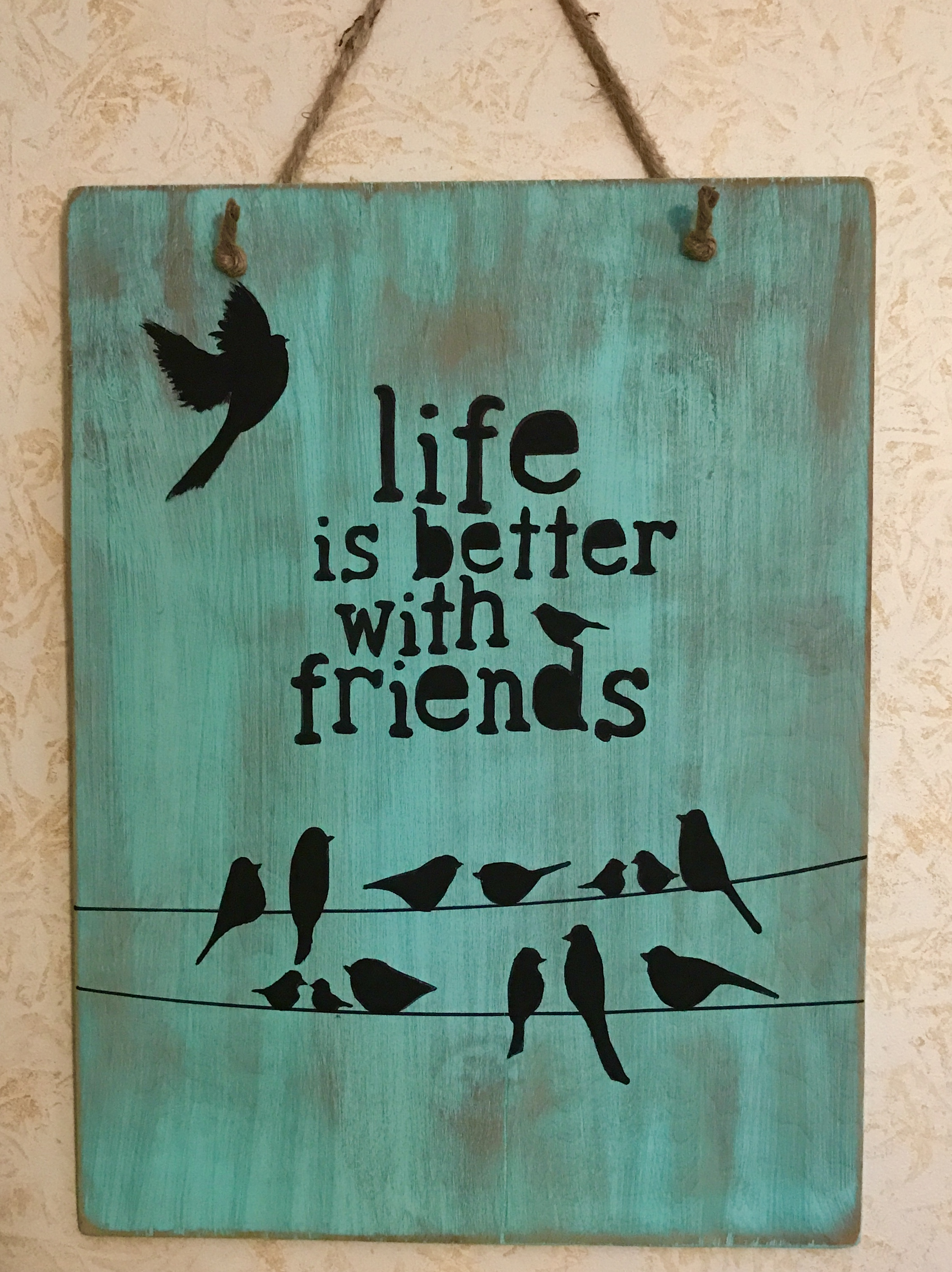 Friends Wooden Sign