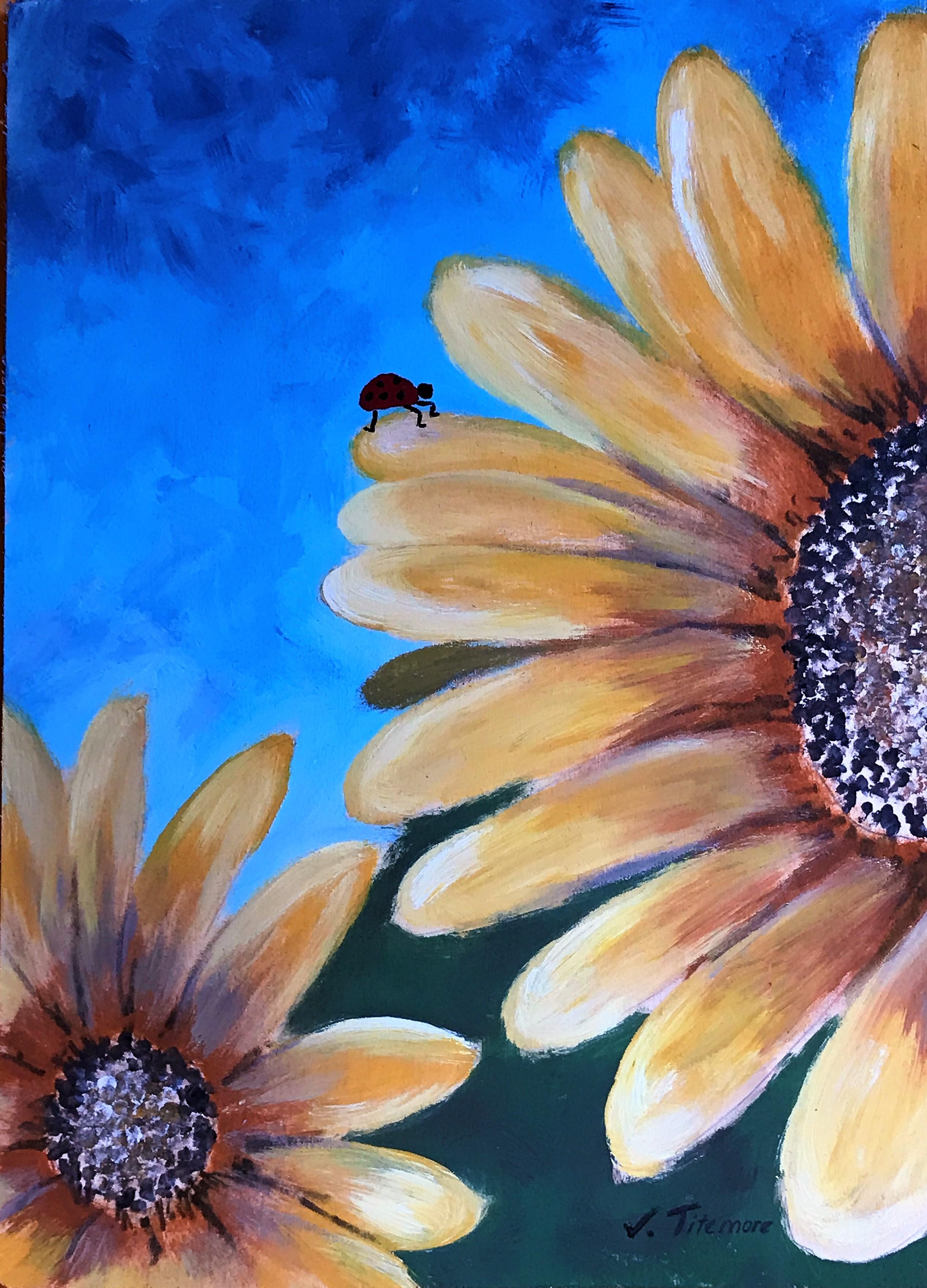 Sunflower & Ladybug