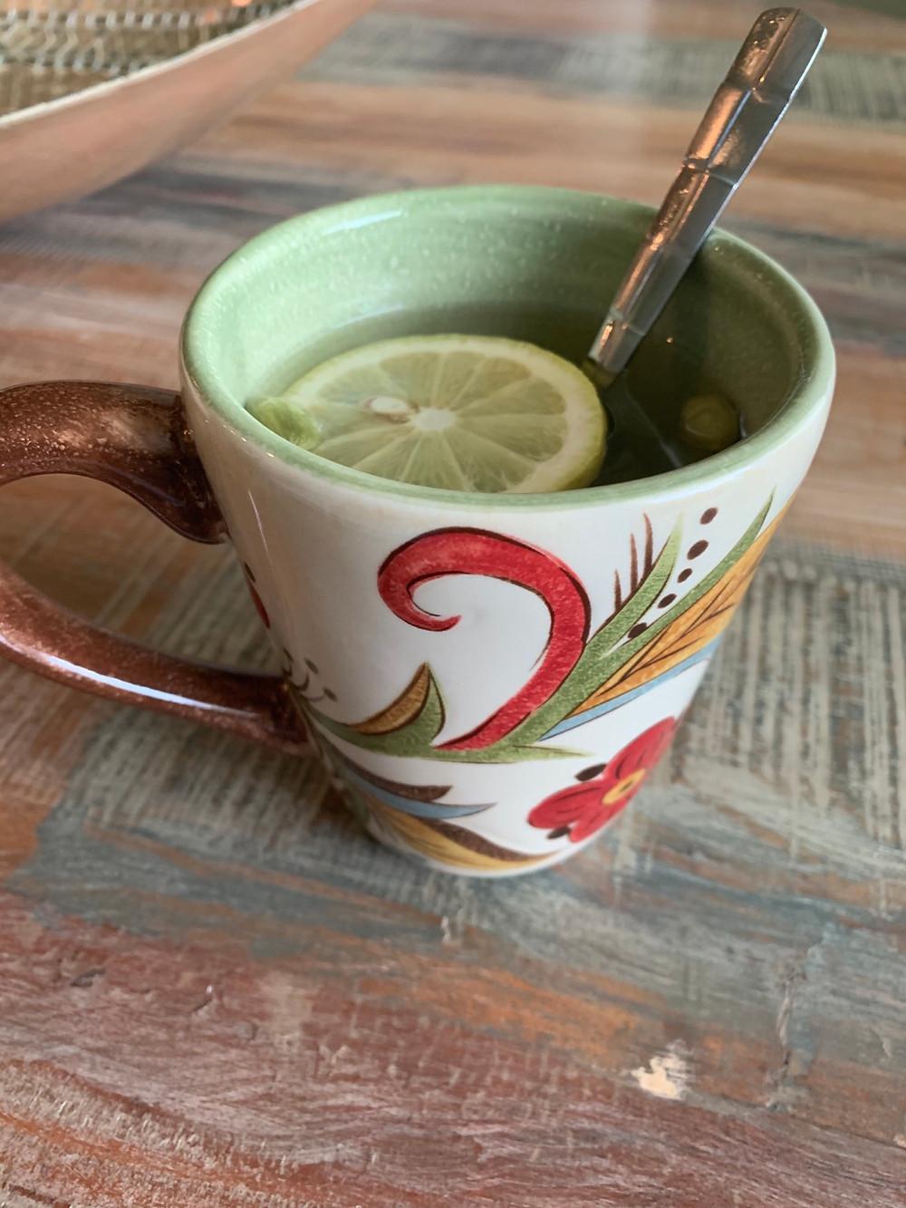Warm cardamom tea is nurturing and healthy