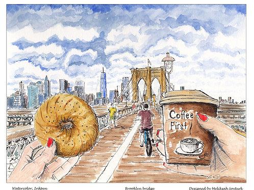 Cafe and Bagel ,Brooklyn Bridge
