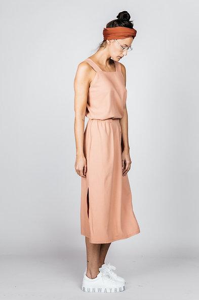 SNUG DRESS coral / Gr.L