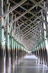 Pier Cathedral, Folly Beach, SC by Jonathan Jackson - Fine art photography for sale on www.mountainmultimedia.net