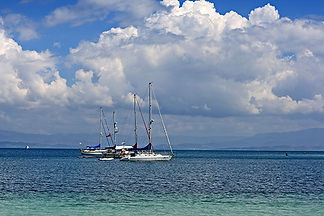 Yachts, Ile-a-vache, Haiti by Jonathan Jackson - Fine art photography for sale on www.mountainmultimedia.net