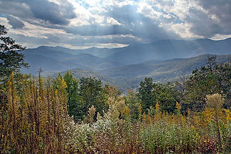 Sun Rays on the Parkway, Asheville, NC by Jonathan Jackson - Fine art photography for sale on www.mountainmultimedia.net