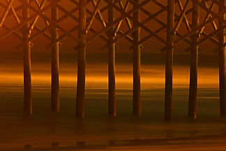 Folly Beach Pier, SC by Jonathan Jackson - Fine art photography for sale on www.mountainmultimedia.net